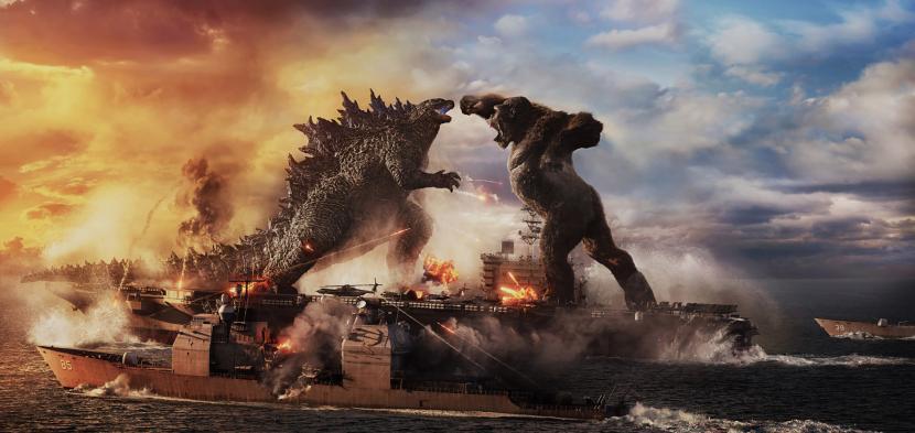Adegan dalam film Godzilla vs Kong.
