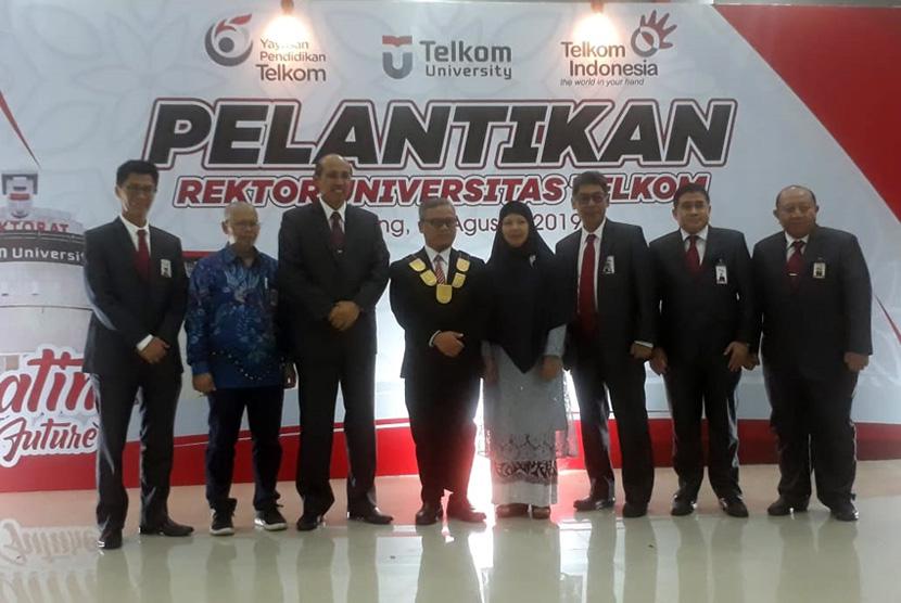 Adiwijaya, Rektor Telkom University Periode transisi 2018-2019 kembali terpilih menjadi rektor periode 2019-2024, Jumat (30/8).