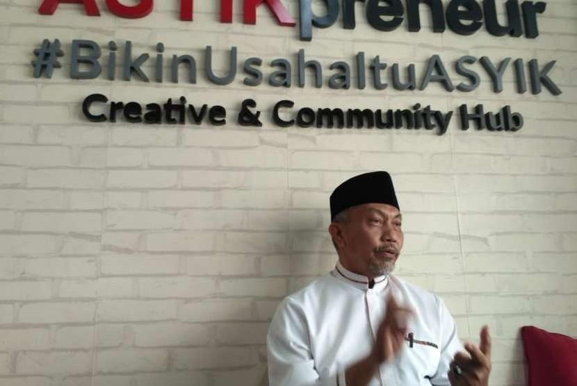 Ahmad Syaikhu saat ditemui pewarta di Kantor Asyikpreneur, Ruko Duta Permai, Kelurahan Jakasampurna, Kecamatan Bekasi Barat, Kota Bekasi. Kamis (20/9).