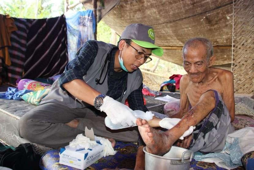 Ahyudin Rasyid, kakek berusia 135 tahun menjadi salah satu korban bencana gempa Lombok.