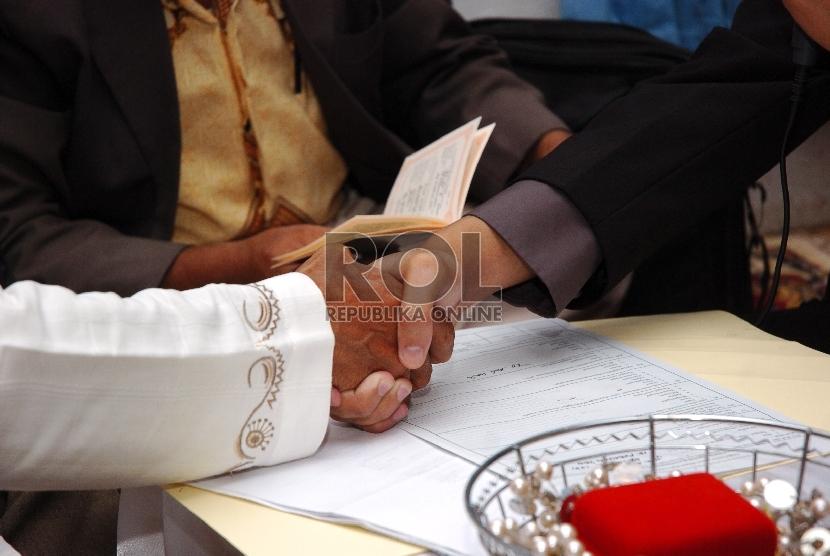 Akad nikah   (ilustrasi)