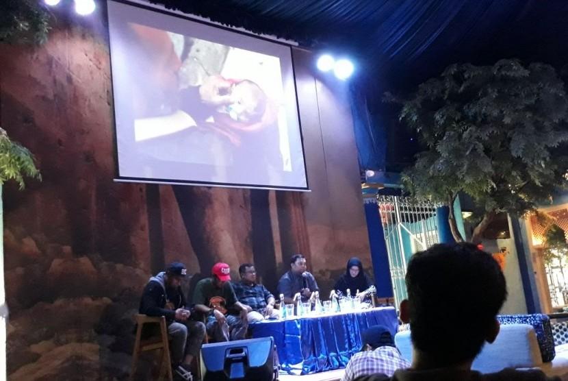 Aksi Cepat Tanggap (ACT) menggelar acara Ngobrol Kemanusiaan bertajuk Selamatkan Ghouta di Kemang, Jakarta, Kamis (8/3).