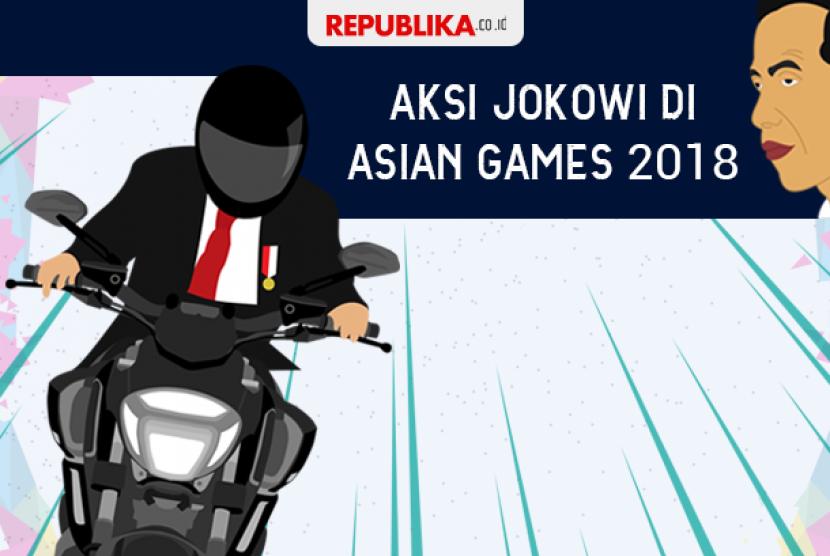 Aksi motor Jokowi