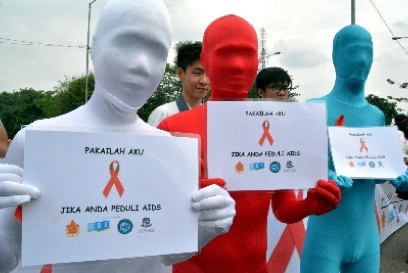 Aksi peduli HIV/AIDS.