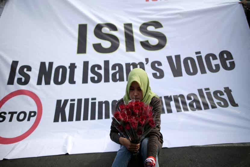 Aksi protes menentang ISIS (ilustrasi)