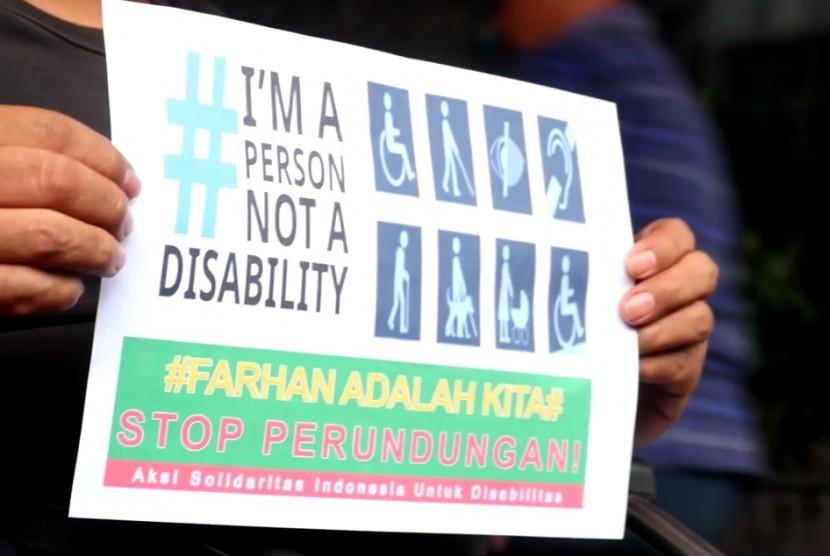 Aksi Solidaritas Indonesia untuk Disabilitas (ilustrasi).