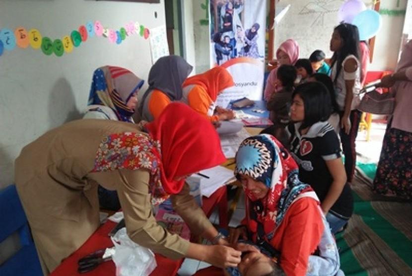 Aktivitas di Posyandu Dewi Sartika.