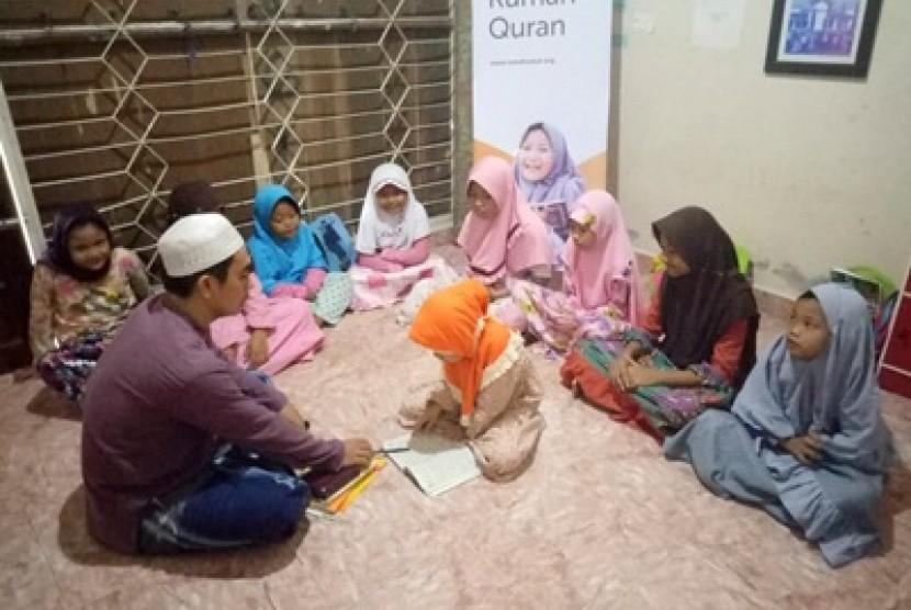Aktivitas di Rumah Qur'an Nurus Sa'adah.