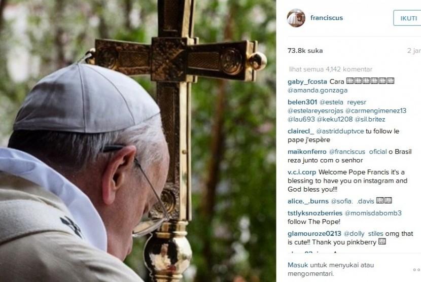 Akun Instagram Paus Fransiskus