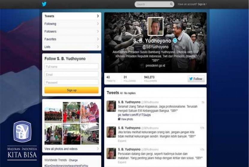 Akun Twitter Presiden SBY