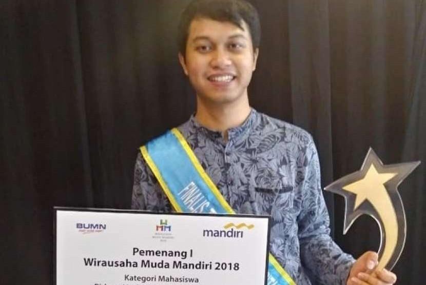 Alwy Herfian, salah satu pendiri Majapahitech, peraih juara satu Wirausaha Muda Mandiri 2018.