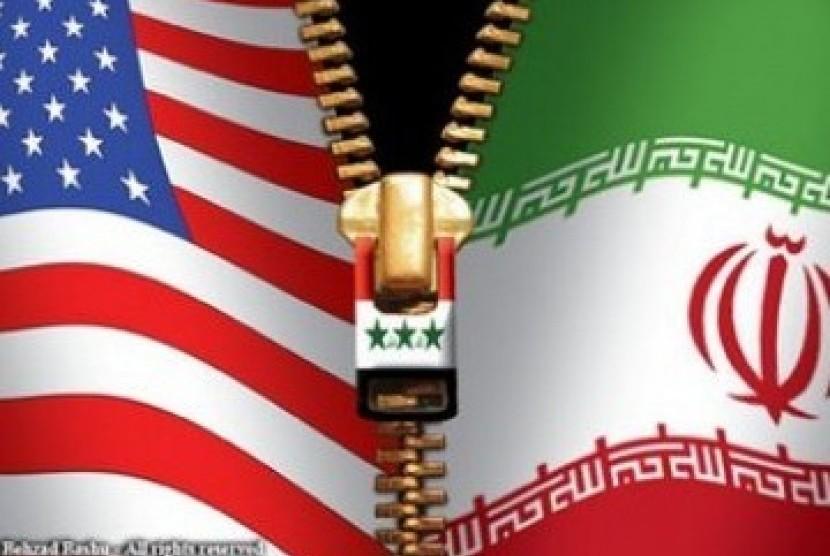 Amerika Serikat vs Iran (ilustrasi)
