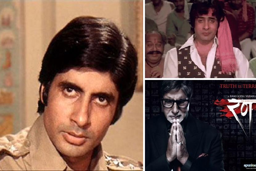 Amitab Bachchan dan sejumlah peran Vijay yang dimainkannya.