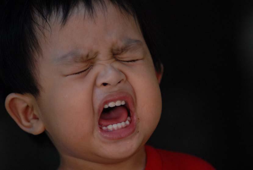 Anak balita menangis (ilustrasi