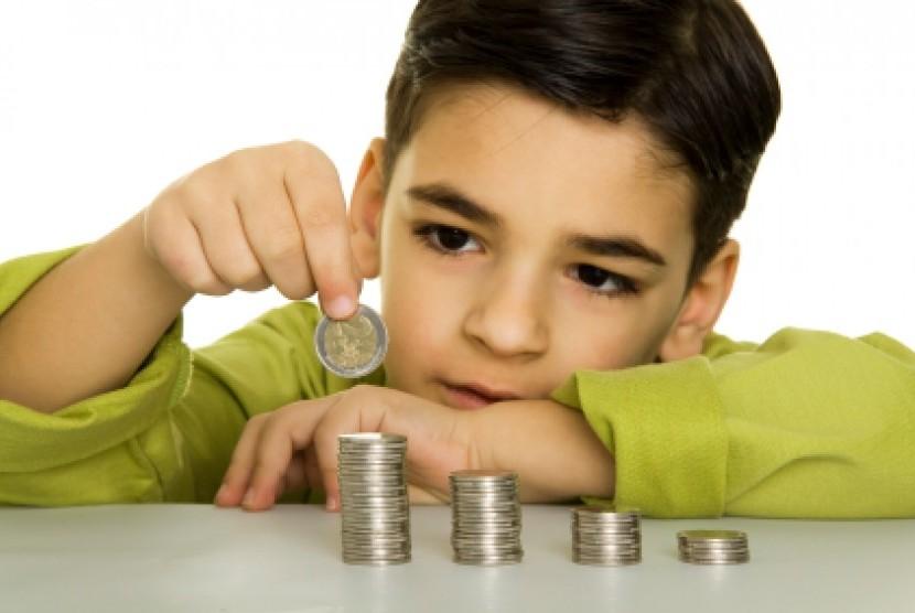 Anak belajar memahami uang/ilustrasi