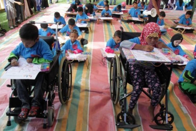 Gambar Kegiatan Anak Sekolah Dasar Pemkot Palembang Jamin Pendidikan Anak Berkebutuhan Khusus Republika Online