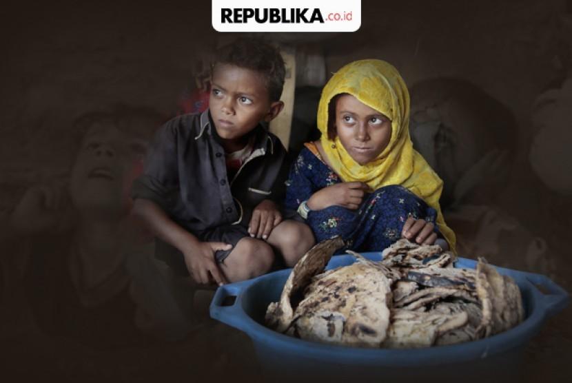 Anak Yaman Kelaparan (ilustrasi)