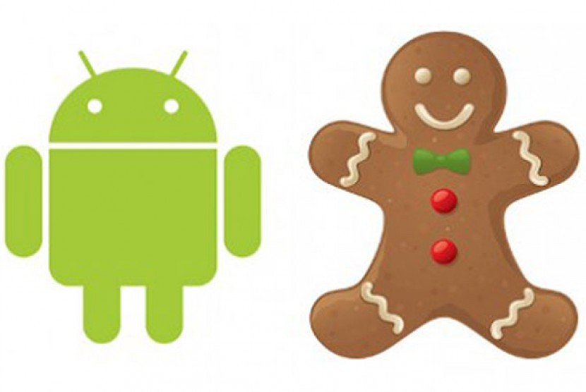 Android Gingerbread (Ilustrasi)