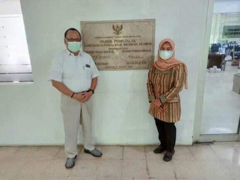 Anggota DPRD Provinsi Jawa Barat Dapil Jabar XII Yuningsih saat melakukan pemantauan penerapan  Pemberlakuan Pembatasan Kegiatan Masyarakat (PPKM) Darurat pada sektor industri.