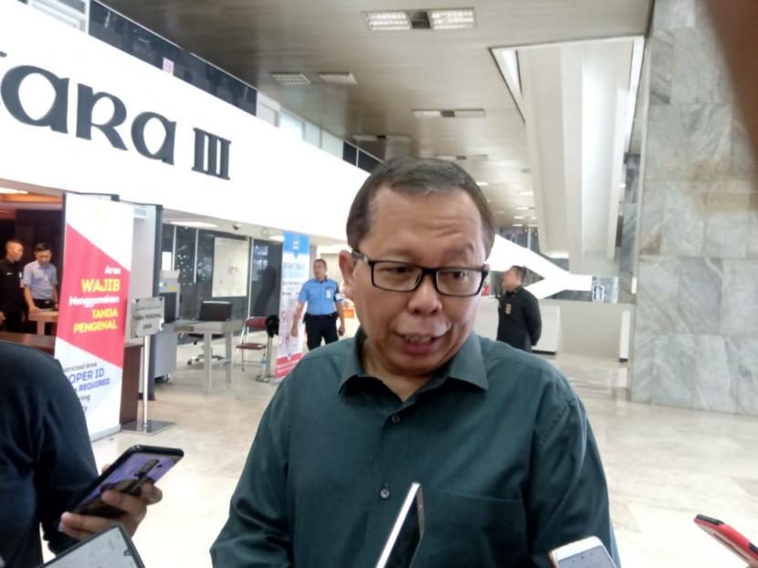 Anggota Komisi III DPR Fraksi Partai Persatuan Pembangunan (PPP) Arsul Sani, di Gedung Nusantara III, Kompleks Parlemen, Jakarta, Kamis (5/3).