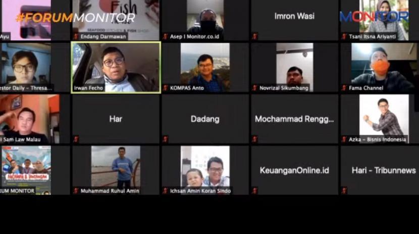 Forum Monitor menggelar diskusi online bertajuk Ancaman dan Tantangan Industri Transportasi di Masa Kebijakan Pandemi, Kamis (11/6).