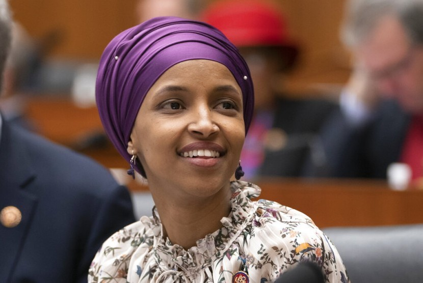 Anggota Kongres AS yang mewakili Minnesota, Ilhan Omar di Capitol Hill, Washington, 6 Maret 2019.