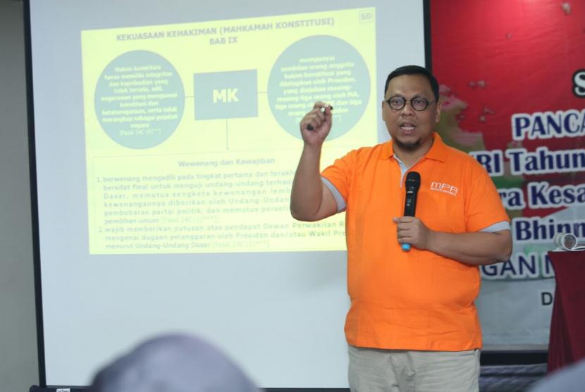 Anggota Majelis Permusyawaratan Rakyat (MPR) dari Fraksi PKB, Lukman Eddy.