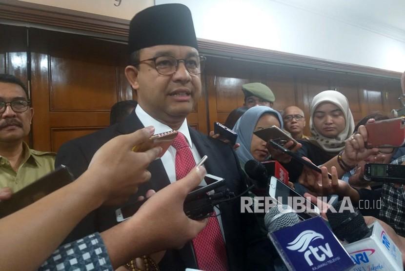 Anies Baswedan. Gubernur DKI Jakarta Anies Rasyid Baswedan di Balai Kota, Jakarta Pusat, Selasa (5/3).