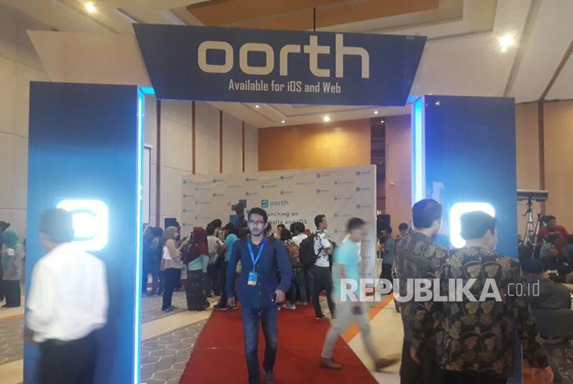 Antusias warga menghadiri peluncuran aplikasi Oorth versi iOS dan website di Solo pada Rabu (21/3).