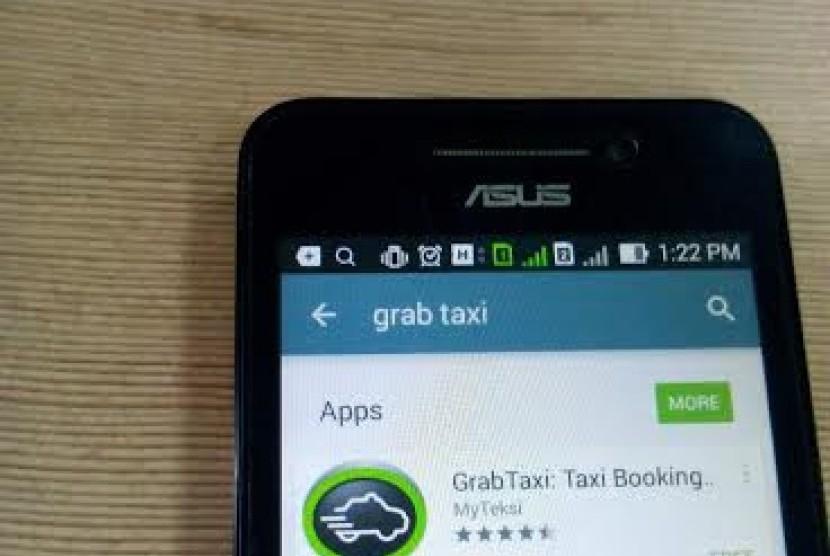 aplikasi grab taxi di Andoid.
