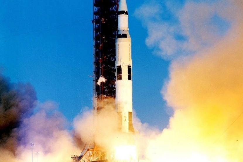 Peluncuran misi Apollo, ilustrasi
