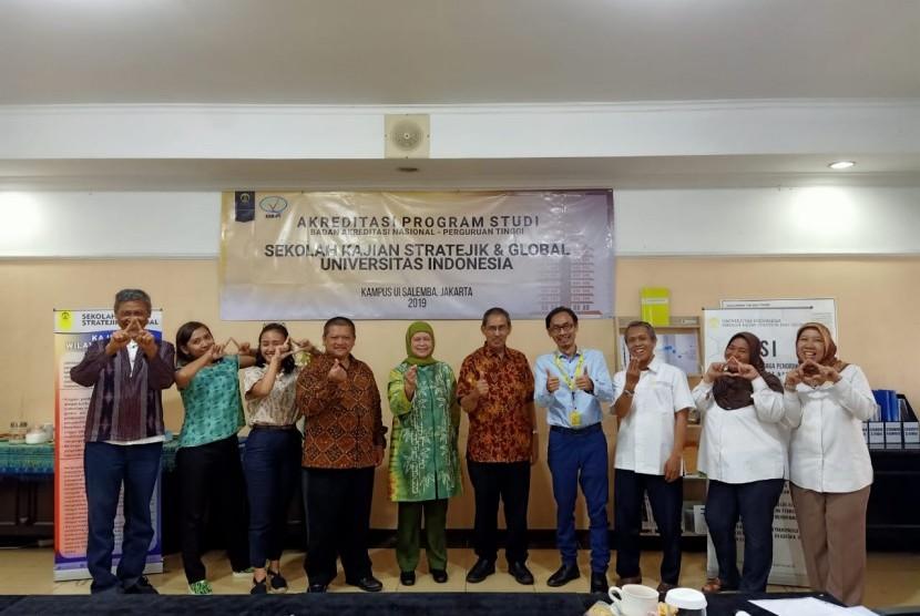 Asesmen Lapangan atau visitasi oleh dua asesor dari BAN-PT di KWA SKSG Universitas Indonesia, Jumat (16/8).
