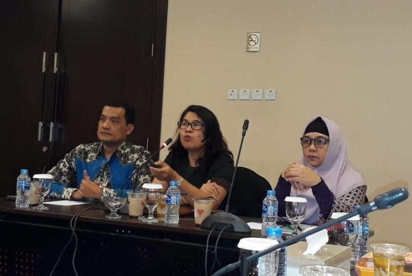 Asosiasi Asuransi Umum Indonesia (AAUI) memaparkan kinerja asuransi umum selama semester I 2019, di Kantor AAUI di Kuningan, Jakarta Selatan, Selasa (20/8).