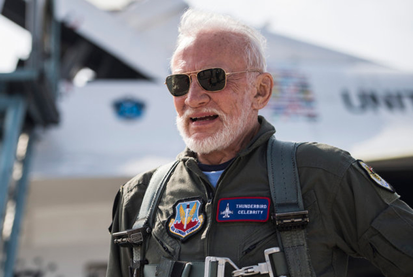 Astronaut Buzz Aldrin.
