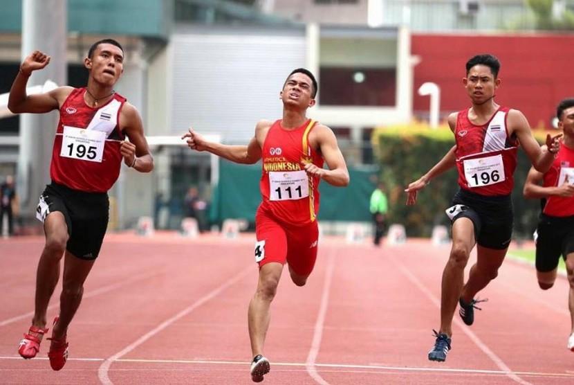 Atlet asal Indonesia mengikuti ASEAN Schools Games (ASG) 2017 di Singapura.