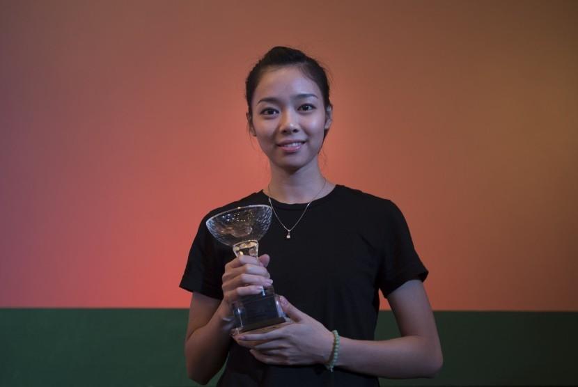 Atlet Wushu Indonesia Lindswell Kwok.