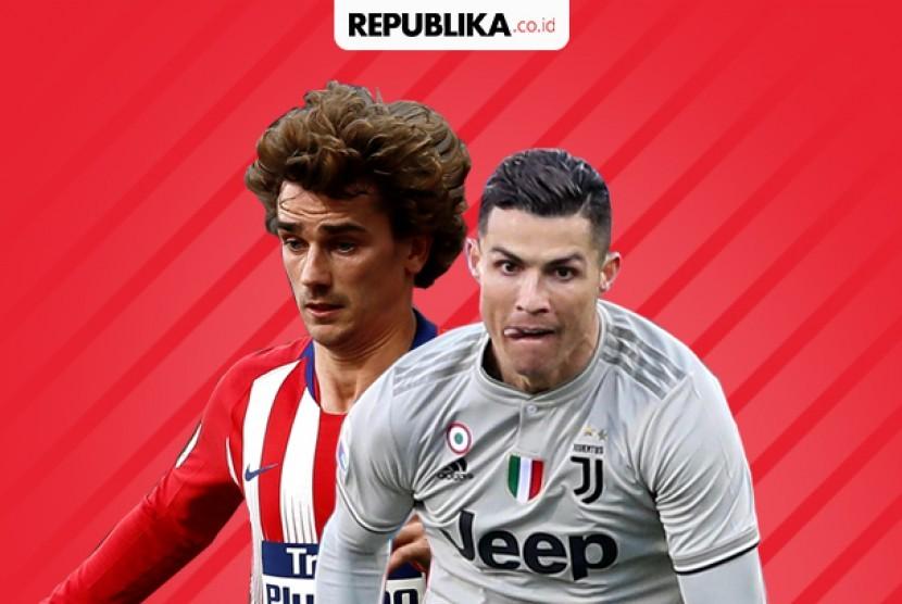 Babak 16 besar Liga Champions Juventus vs Atletico Madrid.