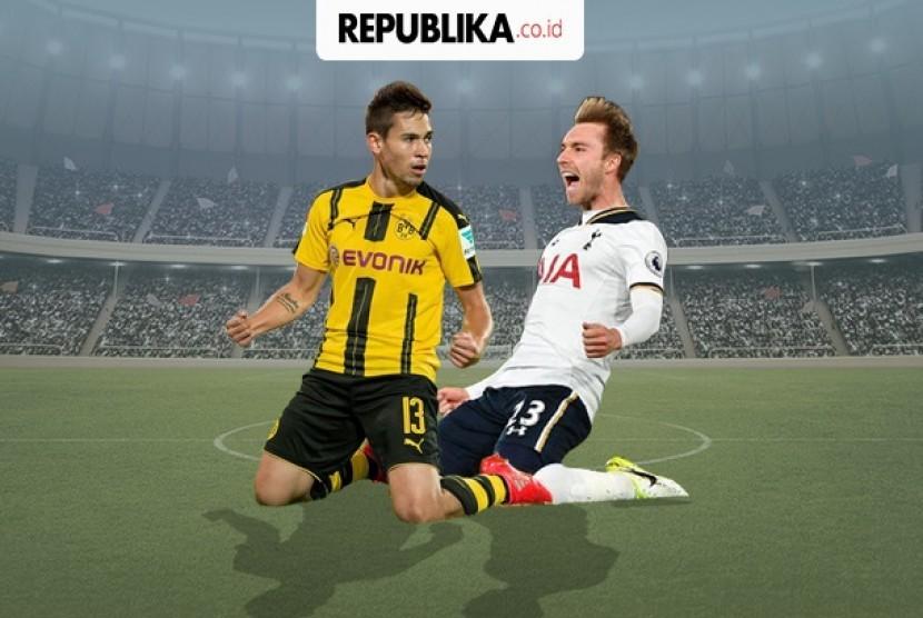 Babak 16 besar Liga Champions, Tottenham Hotspur vs Borussia Dortmund.