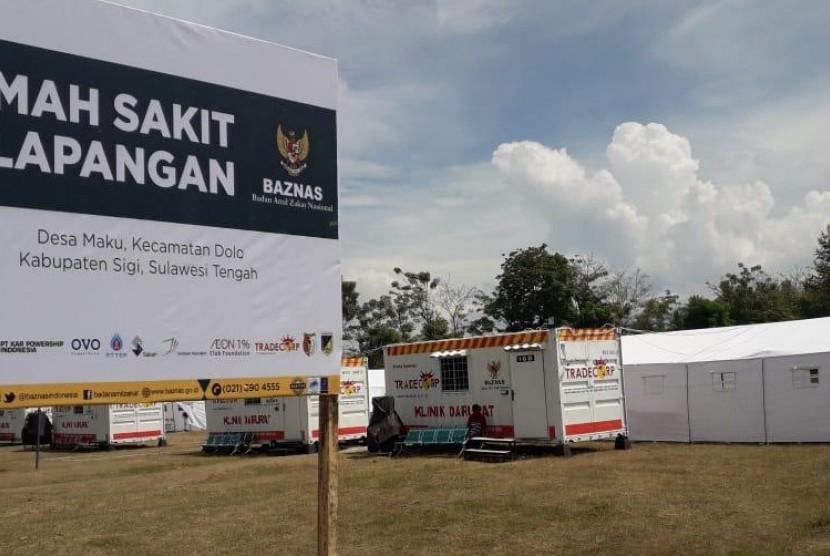 Badan Amil Zakat Nasional (Baznas) meresmikan Rumah Sakit Lapangan di Desa Maku, Kecamatan Dolo, Kabupaten Sigi, Sulawesi Tengah pada Kamis (8/11).