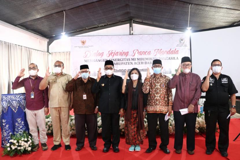 Badan Pembinaan Ideologi Pancasila (BPIP) dan Pemerintah Aceh barat sepakat membentuk Jejaring Panca Mandala.