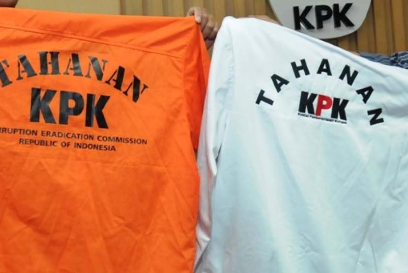 Baju koruptor tahanan KPK (ilustrasi).