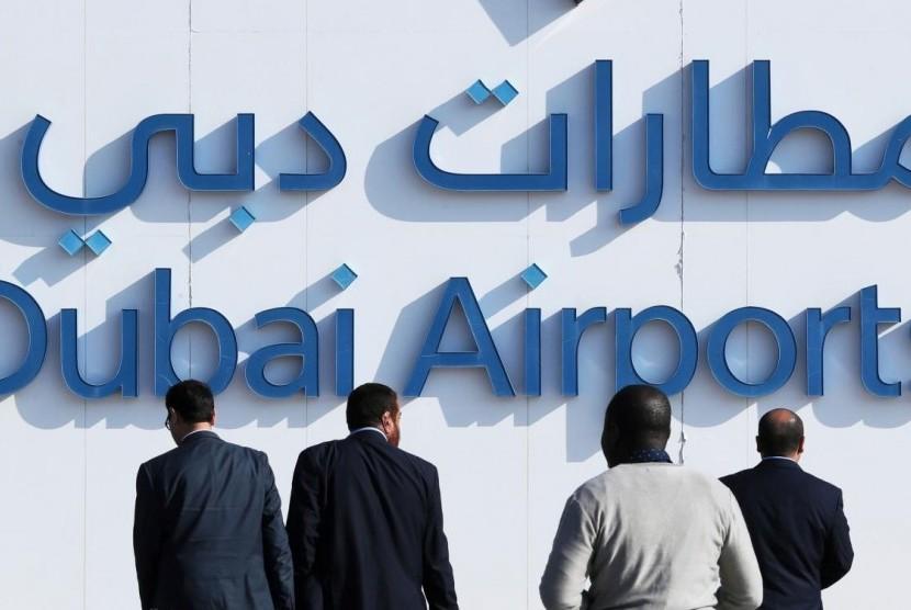 Bandara Dubai di Dubai, Uni Emirat Arab.