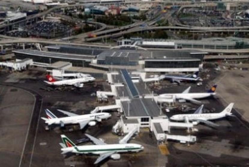 Bandara Internasional John F Kennedy di New York, Amerika Serikat.