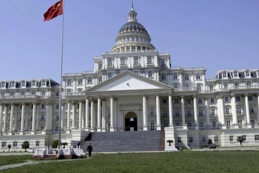 Hasil gambar untuk foto gedung pemerintah cina