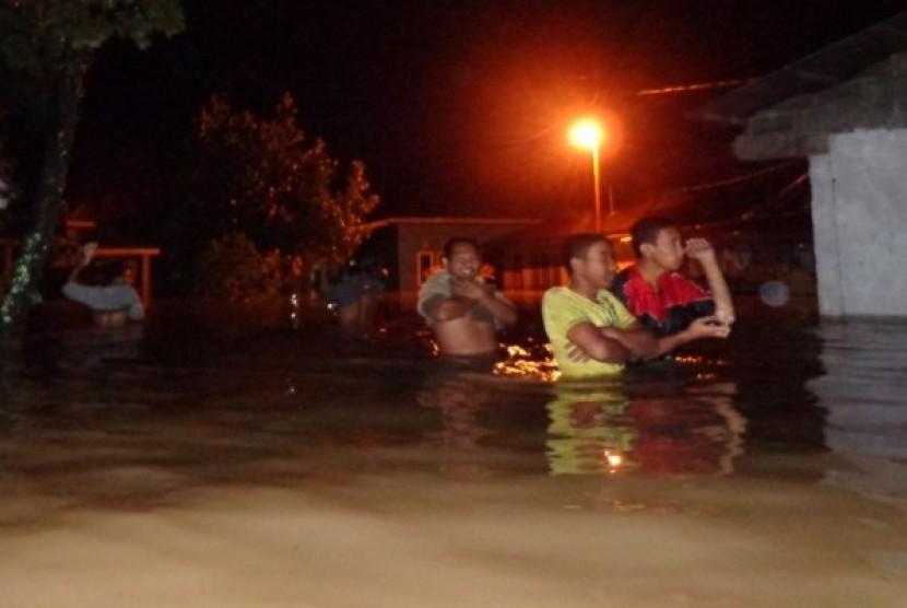Banjir di Sumbar. (Ilustrasi)