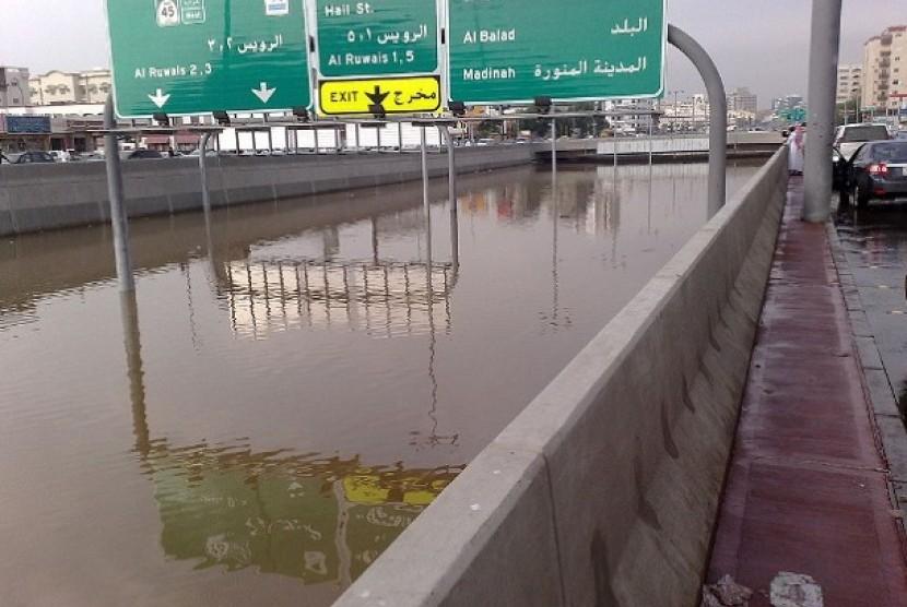 Banjir Jeddah (Ilustrasi)