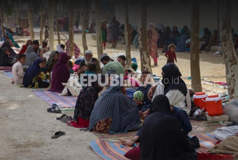 Banjir pengungsi Afghanistan