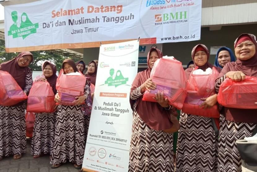Bantuan BMH kepada Muslimah (janda) tangguh.