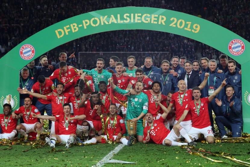 Bayern Muenchen juarai DFB Pokal.