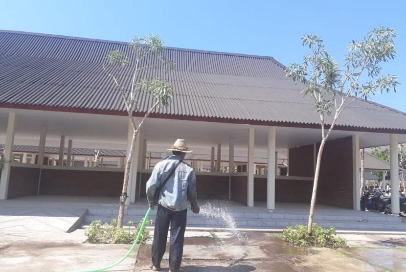 Bazaar Mandalika, areal khusus bagi UMKM di KEK Mandalika, Kabupaten Lombok Tengah, pada Selasa (30/10).